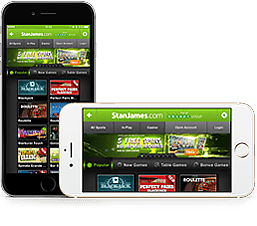 StanJames Casino mobile version for real money casino games