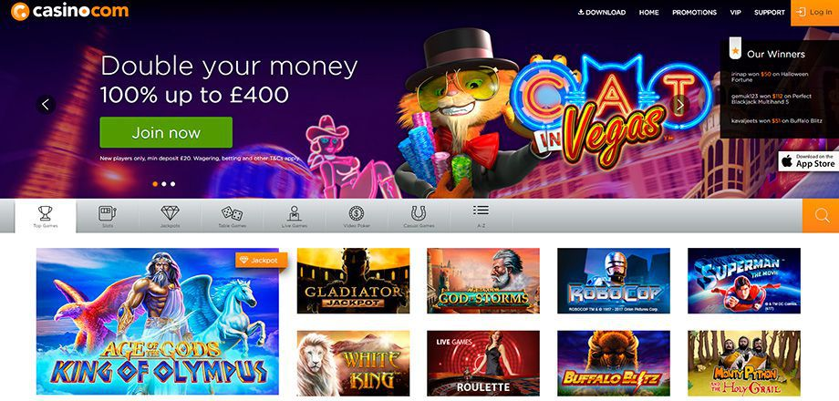 Casino.com official web site