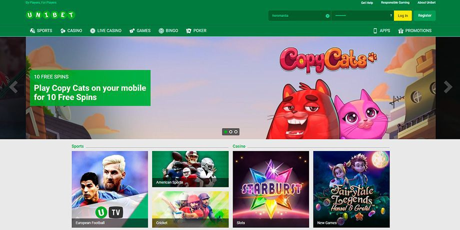 Unibet official web site for real money