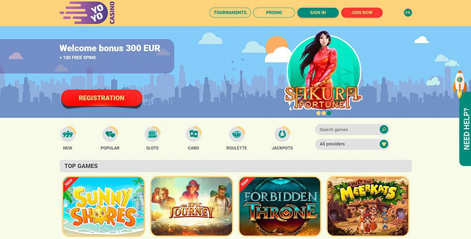YoYo Casino official web site