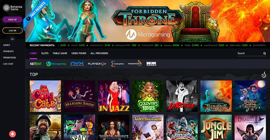 Bonanza Game Casino official web site