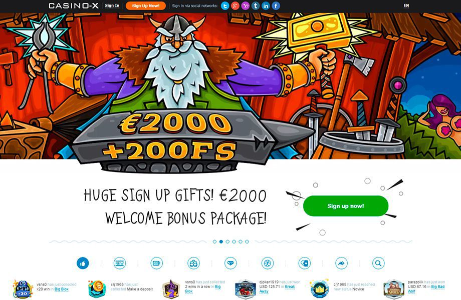 Casino site promotions