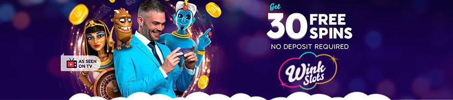Welcome sign up bonus at Wink Slots Casino with no deposit required