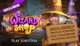 Be the first one: play the Wizard Shop slot on Play Fortuna Casino