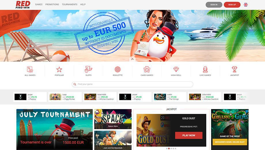Official web site of Red Ping Win Casino