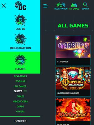 Mobile version of the official web site of Drift Casino
