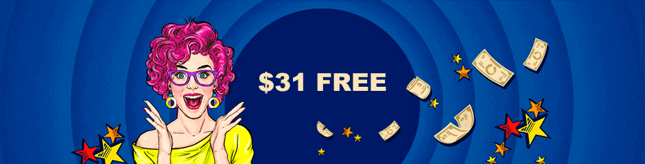$31 free at Slot Cash Casino upon sign up
