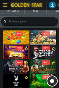 Mobile version of the official web site of Golden Star Casino