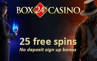 Box24 Casino No Deposit Bonus Code For 25 Free Spins On Sign Up
