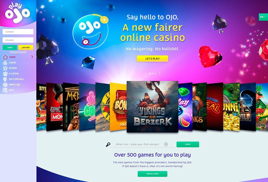 Play Ojo Casino official web site