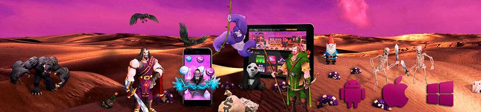 Mobile version of Desert Nights Casino to play for real money and for free