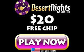 No deposit bonus at Desert Nights Casino