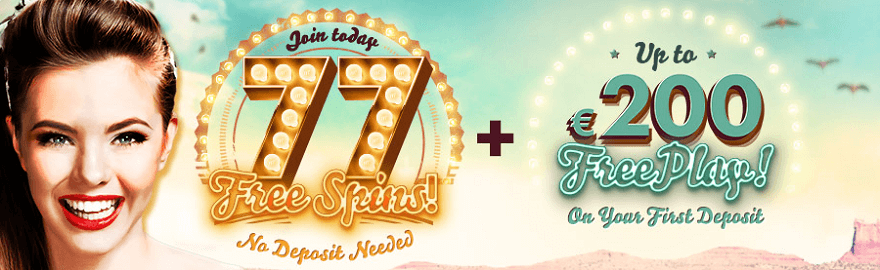 Welcome bonus at 777com Casino